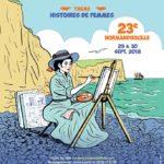 affiche concours de BD festival Normandiebulle sur aux arts