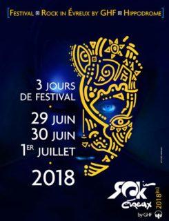 affiche rock in evreux 2018 sur aux arts