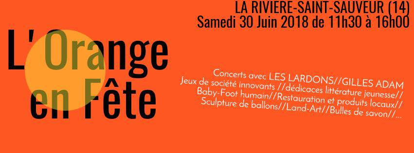 affichette orange en fête 2018