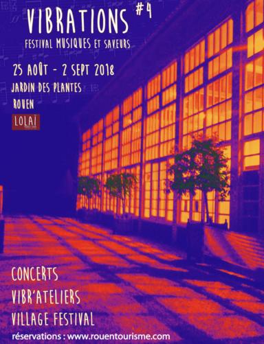 affiche festival Vibrations 2018 sur Aux Arts
